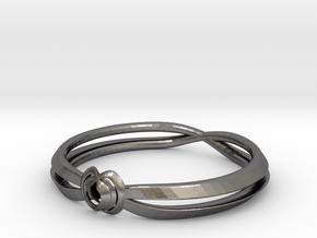 Rose ring (Japan 16,America 8~8.5,Britain P~Q)  in Polished Nickel Steel