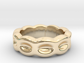 Funny Ring 31 - Italian Size 31 in 14k Gold Plated Brass