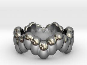 Biological Ring 14 - Italian Size 14 in Fine Detail Polished Silver