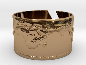 Round The World Bracelet in Polished Brass