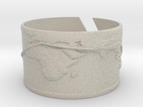 Round The World Bracelet in Natural Sandstone
