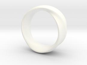 Mobius Ring 19mm inner Diameter in White Processed Versatile Plastic