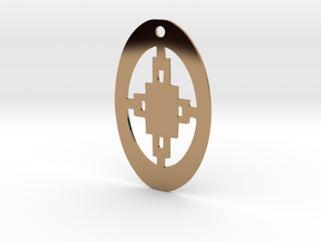 Adinkra Collection -Intelligence Pendant (metals) in Polished Brass