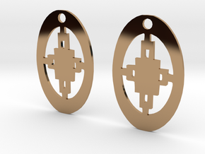 Adinkra Collection -Intelligence Earrings (metals) in Polished Brass