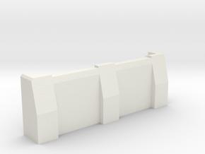 "3"" Ballistic Barrier in White Natural Versatile Plastic"