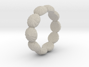 Urchin Ring 1 - US-Size 10 (19.84 mm) in Natural Sandstone