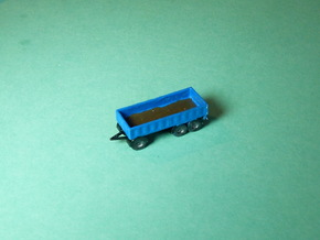 3-Axle Trailer, 3-Achs Anhänger 1/285 6mm in Frosted Ultra Detail