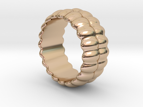 Mirror Ring 22 - Italian Size 22 in 14k Rose Gold Plated Brass