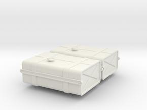 1-24 SAS Jeep Fuel Tanks in White Strong & Flexible