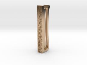 Binary Tie Bar 4cm in 14k Rose Gold Plated Brass