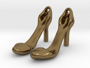 Classic Heels Earrings No. 1 - Size 1 in Polished Bronze