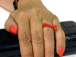 Adjustable ring. Basic set 4. in Red Processed Versatile Plastic