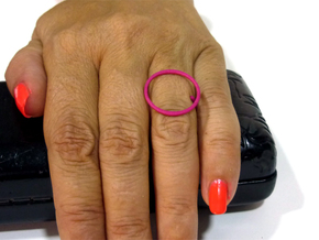 Circle ring shape. in Pink Processed Versatile Plastic