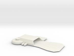 Hutt Base Platform in White Natural Versatile Plastic