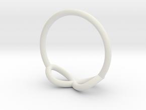 Ring Infinity in White Natural Versatile Plastic