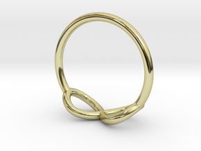 Ring Infinity in 18k Gold Plated Brass