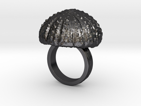 Urchin Statement Ring - US-Size 5 (15.7 mm) in Polished and Bronzed Black Steel