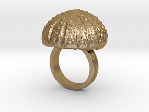 Urchin Statement Ring - US-Size 5 1/2 (16.10 mm) in Polished Gold Steel