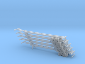 N 40' Container Chassis Stack #1 in Smooth Fine Detail Plastic