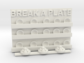 BREAK A PLATE in White Natural Versatile Plastic