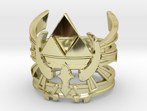 Triforce ring - Zelda - medium sizes (15 to 22) in 18K Gold Plated