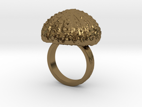 Urchin Statement Ring - US-Size 7 1/2 (17.75 mm) in Polished Bronze