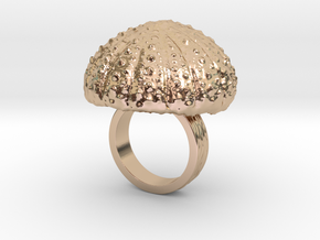 Urchin Statement Ring - US-Size 3 (14.05 mm) in 14k Rose Gold Plated Brass