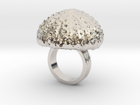 Urchin Statement Ring - US-Size 3 (14.05 mm) in Rhodium Plated Brass