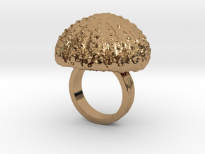 Urchin Statement Ring - US-Size 4 (14.86 mm) in Polished Brass