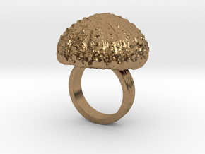 Urchin Statement Ring - US-Size 5 (15.7 mm) in Natural Brass