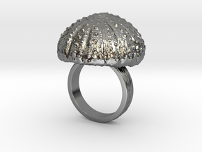 Urchin Statement Ring - US-Size 6 1/2 (16.92 mm) in Fine Detail Polished Silver