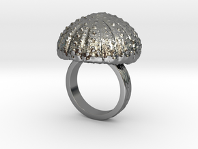Urchin Statement Ring - US-Size 7 (17.35 mm) in Fine Detail Polished Silver