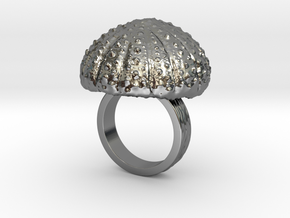 Urchin Statement Ring - US-Size 5 (15.7 mm) in Fine Detail Polished Silver