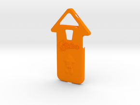 Galaxy S4 Splatoon Squid Case (speaker to front) in Orange Processed Versatile Plastic