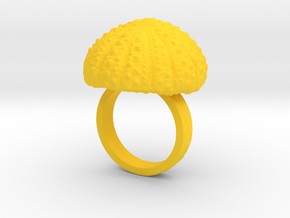 Urchin Statement Ring - US-Size 7 (17.35 mm) in Yellow Processed Versatile Plastic