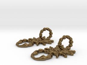 SCORPO earrings in Polished Bronze