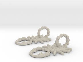 SCORPO earrings in Natural Sandstone
