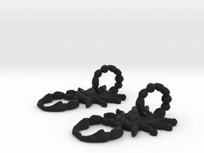 SCORPO earrings in Black Natural Versatile Plastic
