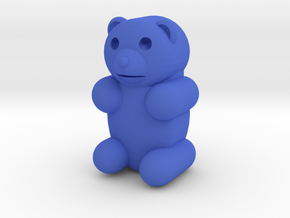 Large Gummibear in Blue Processed Versatile Plastic