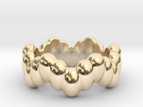 Biological Ring 15 - Italian Size 15 in 14k Gold Plated Brass
