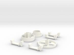 Xbox 360 controller D-pad in White Processed Versatile Plastic