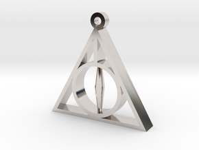 Deathly Hallows Pendant - Small - 5/8  in Platinum