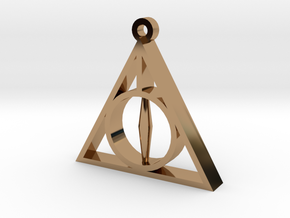 Deathly Hallows Pendant - Small - 5/8  in Polished Brass