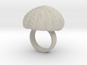 Urchin Statement Ring - US-Size 3 (14.05 mm) in Natural Sandstone