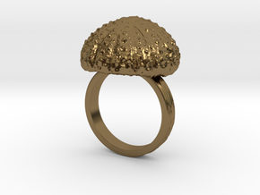 Urchin Statement Ring - US-Size 11 1/2 (21.08 mm) in Polished Bronze