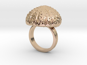 Urchin Statement Ring - US-Size 8 1/2 (18.53 mm) in 14k Rose Gold Plated Brass