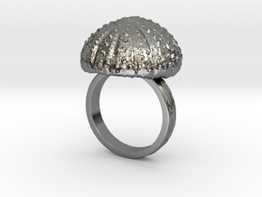 Urchin Statement Ring - US-Size 11 (20.68 mm) in Fine Detail Polished Silver