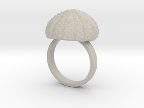 Urchin Statement Ring - US-Size 13 (22.33 mm) in Natural Sandstone