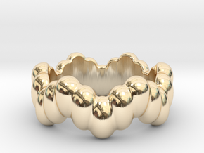 Biological Ring 16 - Italian Size 16 in 14k Gold Plated Brass