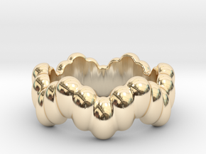 Biological Ring 17 - Italian Size 17 in 14K Yellow Gold